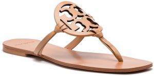 Žabky TORY BURCH - Miller Square Toe 54600 Natural Vachetta 267