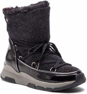 58fc58b385 Členková obuv TOMMY HILFIGER - Cool Glitter Winter Boot FW0FW03696 Black 990