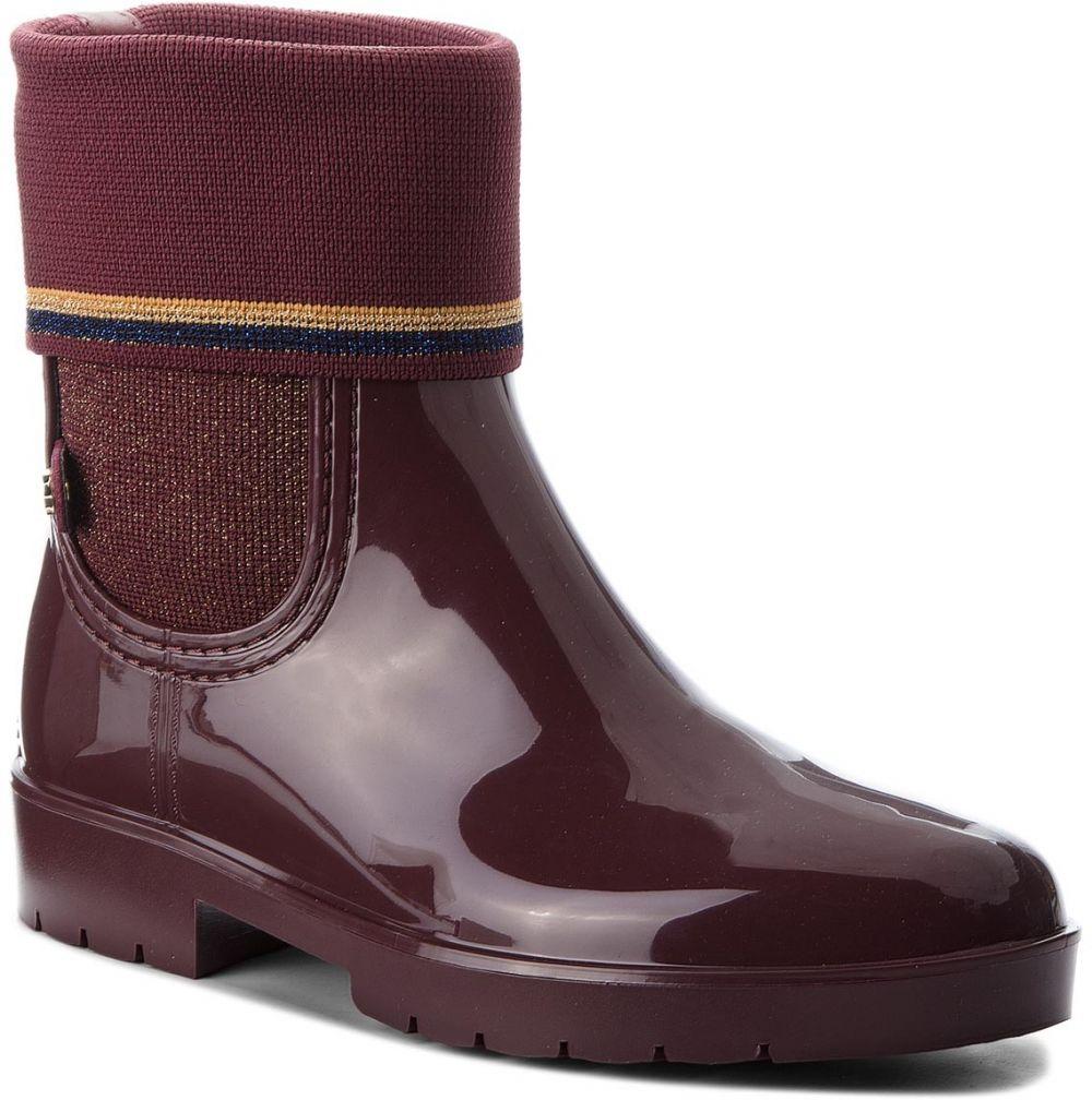3693aefbb7 Gumáky TOMMY HILFIGER - Knitted Sock Rain Bo FW0FW03565 Decadent Chocolate  296