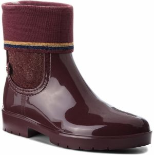 Gumáky TOMMY HILFIGER - Knitted Sock Rain Bo FW0FW03565 Decadent Chocolate 296