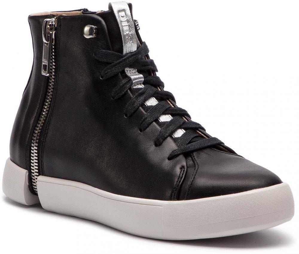45d6874cb93e3 Sneakersy DIESEL - S-Nentish Mc W Y01651 P1066 H1145 Black/Silver značky  Diesel - Lovely.sk