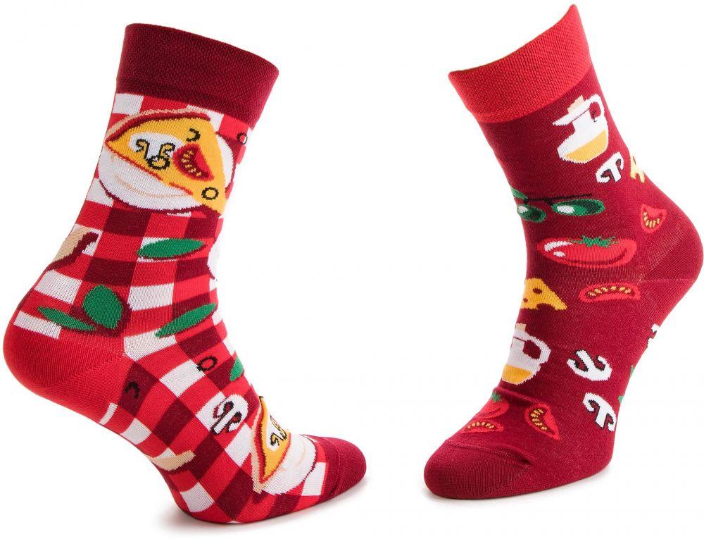 Ponožky Vysoké Unisex MANY MORNINGS - Pizza Italiana Červená Farebná značky Many  Mornings - Lovely.sk f41b228c37