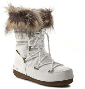 Snehule MOON BOOT - Monaco Low 24002900002 Bianco/White
