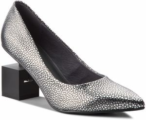 Poltopánky UNITED NUDE - Cube Pump 10342576127 Silver Stingray