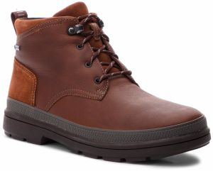 Čižmy CLARKS - RushwayMid Gtx GORE-TEX 261355547 British Tan Leather