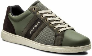 Sneakersy TOMMY HILFIGER - Core Material Mix Cupsole FM0FM01479 Dusty Olive 011