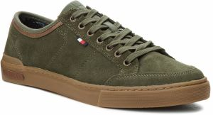 Tenisky TOMMY HILFIGER - Core Suede Lace Up S FM0FM01898 Olive Night 010