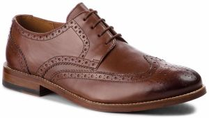 Poltopánky CLARKS - James Wing 261348797 British Tan Leather