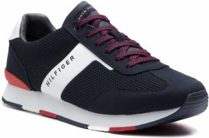 Sneakersy TOMMY HILFIGER - Knitted Material Mix Runner FM0FM01956 Midnight 403