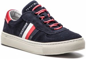 Sneakersy TOMMY HILFIGER - Suede Mix Corporate Sneaker FM0FM01980 Midnight 403