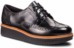Oxfordy CLARKS - Teadale Maira 261363544 Black Leather