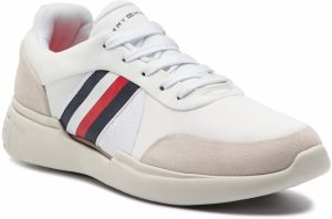 Sneakersy TOMMY HILFIGER - Lightweigh Corporate Runner FM0FM01952 White 100