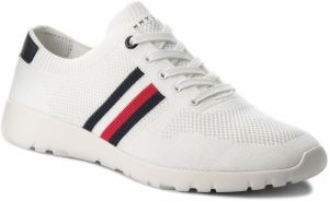 Sneakersy TOMMY HILFIGER - Extra Lighweight Knitted Runner FM0FM01621 White 100
