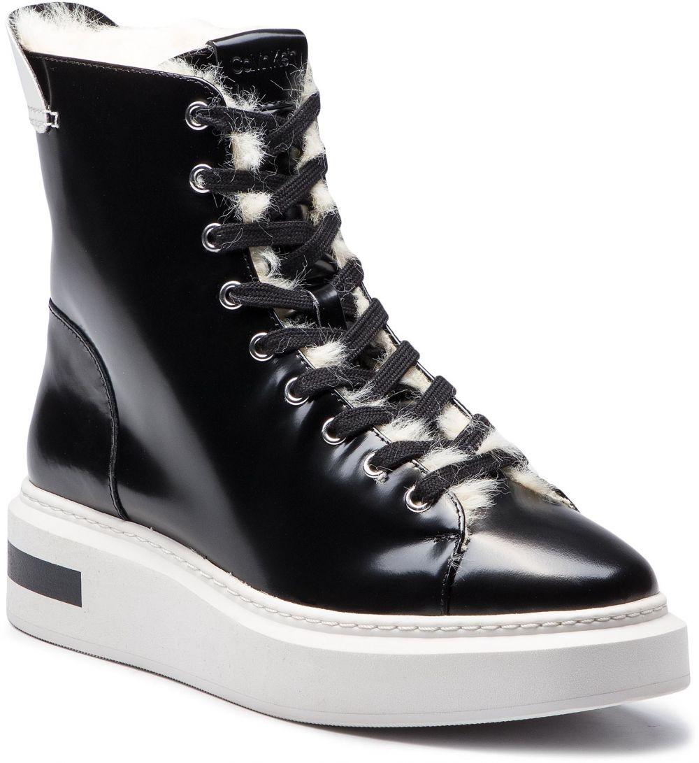51b48eecc8 Členková obuv CALVIN KLEIN - Travis E7507 Black Platinum White ...