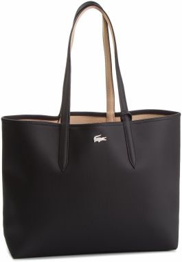 Kabelka LACOSTE - Shopping Bag NF2142AA Black Warm Sand A91