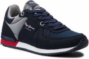 Sneakersy PEPE JEANS - Sydney Basic PBS30372 Navy 595