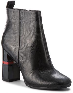 Členková obuv TOMMY JEANS - Crackled Metallic He EN0EN00280 Black 990 4c1cef135a3