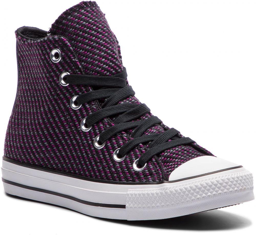 c7ea58f7deb25 Tramky CONVERSE - Ctas Hi 562461C Black/Icon Violet/Cool Grey značky  Converse - Lovely.sk