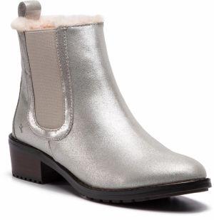 Kotníková obuv s elastickým prvkom EMU AUSTRALIA - Ellin Metallic W11999  Silver 7da8174989a