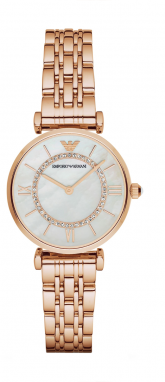 Hodinky EMPORIO ARMANI - Gianni T-Bar AR1909 Rose Gold/Rose Gold