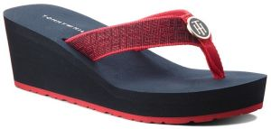 Žabky TOMMY HILFIGER - Hordware Mid Beach S FW0FW03198 Tango Red 611