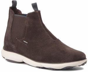 Kotníková obuv s elastickým prvkom GEOX - U Nebula A U84D7A 00022 C6024 Dk  Coffee 4e56b8cf08