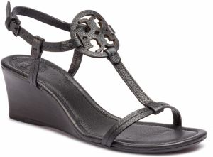Sandále TORY BURCH - Miller 60mm Wedge 51401 Perfect Black 006