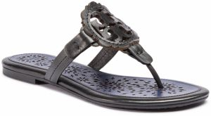 Žabky TORY BURCH - Miller Scallop Sandal 52934 Perfect Black/Navy Sea 015