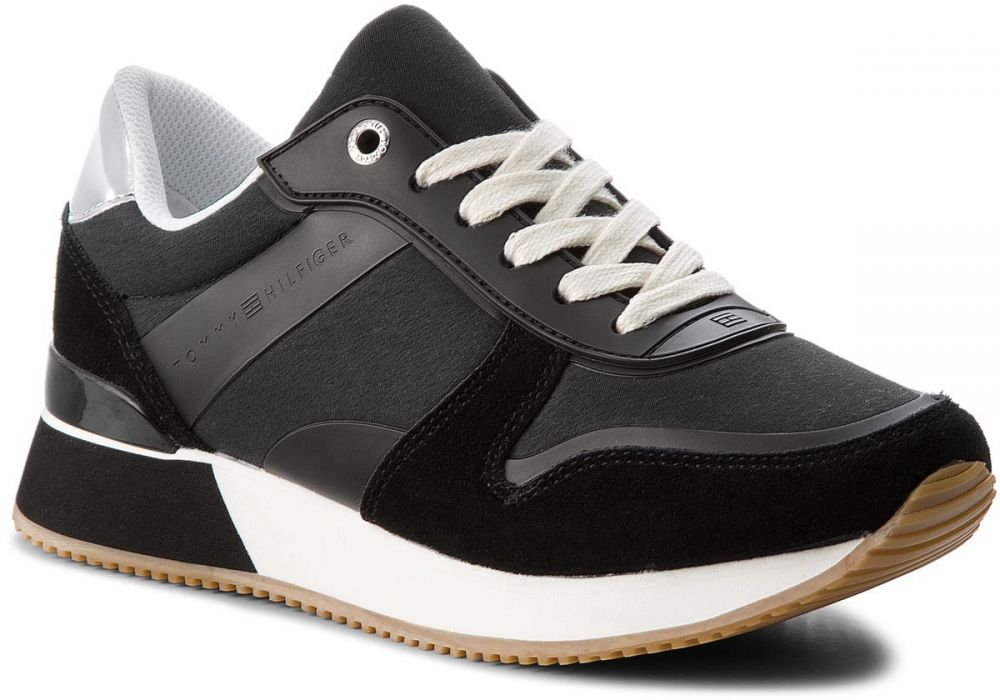 3dd876941fb1e Sneakersy TOMMY HILFIGER - Mixed Material Lifestyle Sneaker FW0FW03011 Black  990 značky Tommy Hilfiger - Lovely.sk