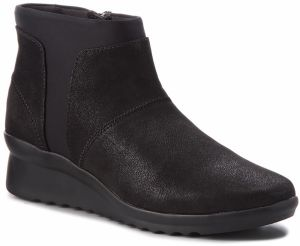 Členková obuv CLARKS - Caddell Sloane 261378624 Black Synthetic