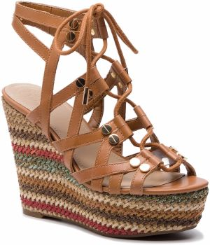 0f73d6dd3a Espadrilky GUESS - Guliver FL6GUL LEA04 BROWN značky Guess - Lovely.sk