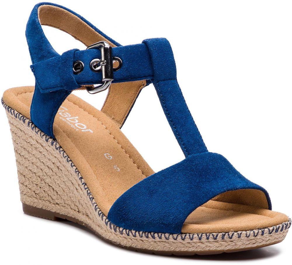 ... Sandále na klinovom podpätku. Espadrilky GABOR - 82.824.46 Mare 0cb8e53107