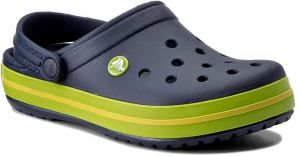 Šľapky CROCS - Crocband 11016 Navy/Volt Green/Lemon