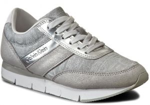Sneakersy CALVIN KLEIN JEANS - Tea RE9644 Light Silver
