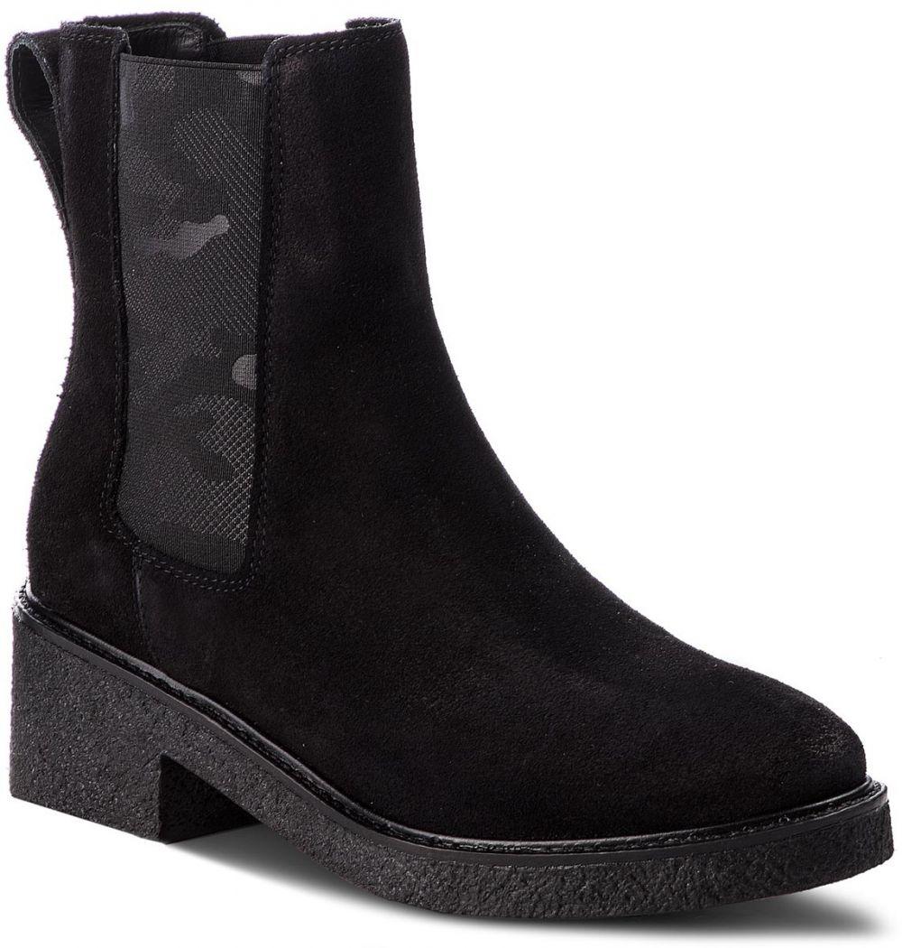 567679605d Členková obuv TOMMY HILFIGER - Crepe Mid Heel Boot Suede FW0FW03046 Black  990 značky Tommy Hilfiger - Lovely.sk