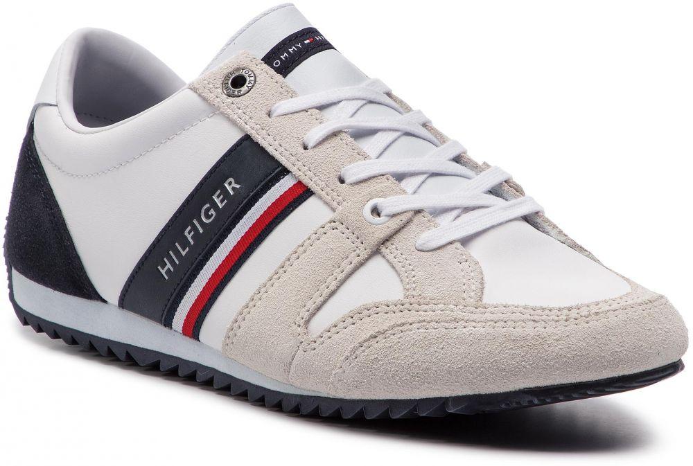 eff9294e5d Sneakersy TOMMY HILFIGER - Essential Leather Runner FM0FM02045 Rwb ...