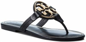 Žabky TORY BURCH - Metal Miller 47617 Perfect Black/Gold 013