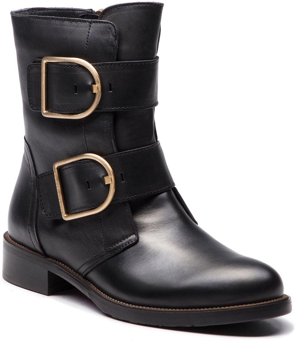 Členková obuv TOMMY HILFIGER - Oversized Buckle Fla FW0FW03072 Black ... 009ff32fa0a