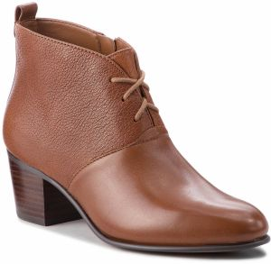 Členková obuv CLARKS - Maypearl Lucy 261361494 Dark Tan Leather