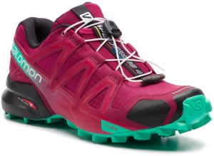 Topánky SALOMON - Speedcross 4 407381 20 V0 Beet Red/Electric Green/Black