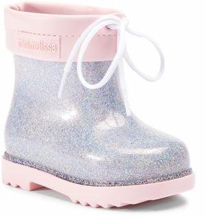 700fbe672cd1 Gumáky MELISSA - Mini Melissa Rain Boot Bb 32424 Pink Clear Glitter 53403