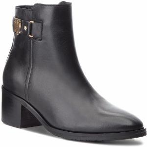 50cc81bc5b Členková obuv TOMMY HILFIGER - Th Buckle Mid Heel B FW0FW03630 Black 990
