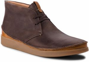 Outdoorová obuv CLARKS - Oakland Rise 261353977 Dark Brown Leather