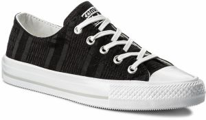 Tramky CONVERSE - Ctas Gemma Ox 555843C Black/White/Mouse