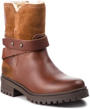 Členková obuv TOMMY JEANS - Warm Cleated Biker B EN0EN00388 Winter Cognac 906