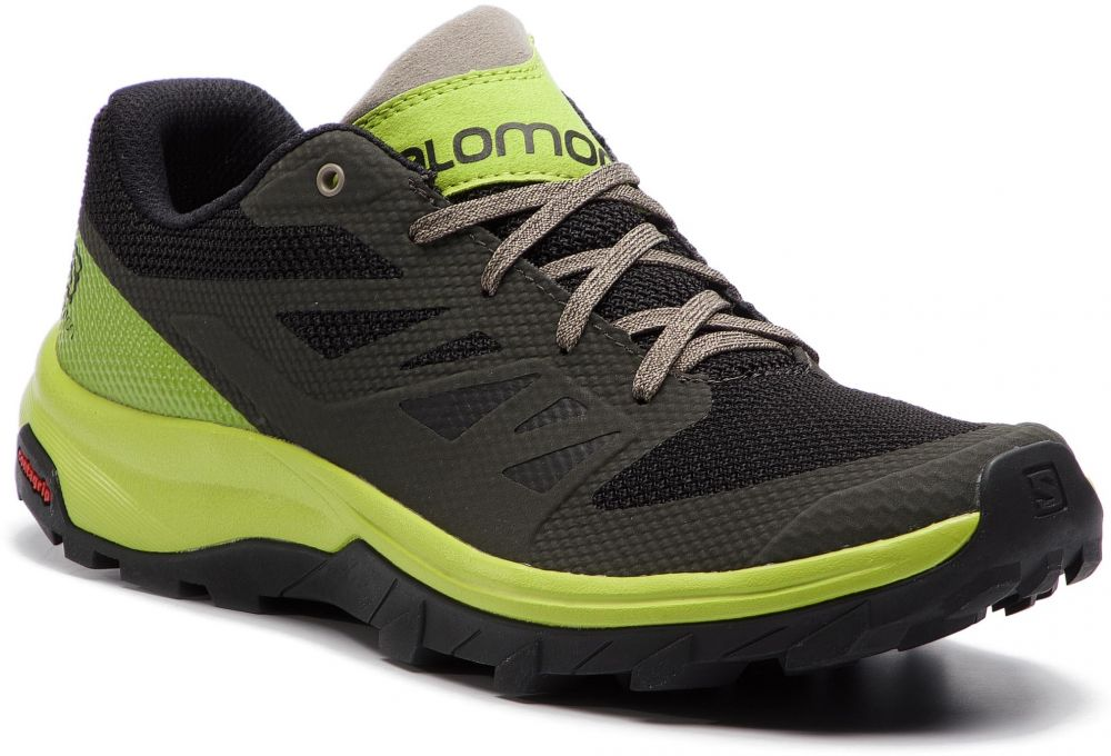 b37a12981bf1 Trekingová obuv SALOMON - Outline 406189 27 M0 Beluga Lime Green Vintage  Kaki