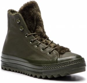 Sneakersy CONVERSE - Ctas Lift Ripple Hi 562425C Utility Green/Utility Green
