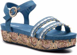 8bb9c14d1933 Desigual tyrkysové topánky na platforme Bio7 Blue Aquarella značky ...