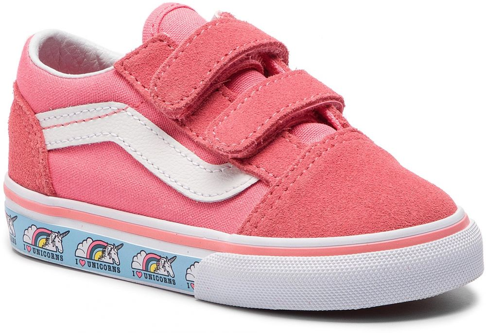 Tenisky VANS - Old Skool V VN0A344KVE01 (Unicorn) Strawberry Pink ... b544a45a976