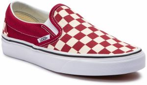 Tenisky VANS - Classic Slip-On VN0A38F7VLW1 (Checkerboard) Rumba Red